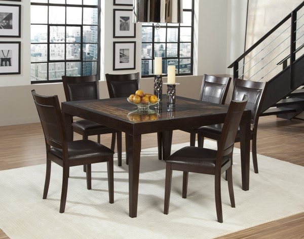 Vincent Chocolate Dark Brown Wood Dining Room Set HE-3299DT