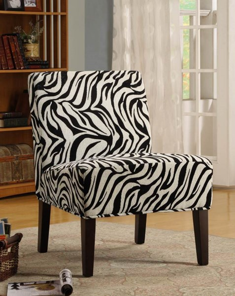 Lifestyle Cherry Zebra Wood Fabric Accent Chair HE-468F6S