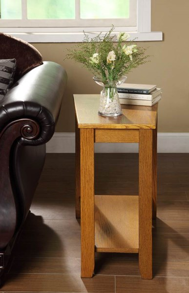Elwell Contemporary Oak Wood Chair Side Table HE-4728AK