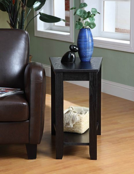 Elwell Contemporary Black Wood Chair Side Table HE-4728BK