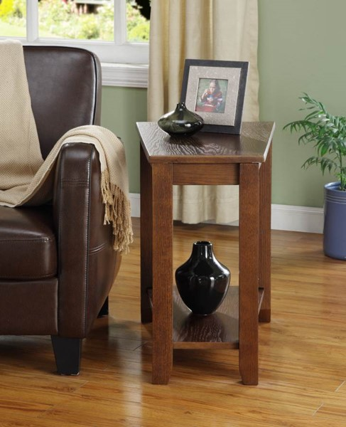 Elwell Contemporary Espresso Wood Chair Side Table HE-4728ES