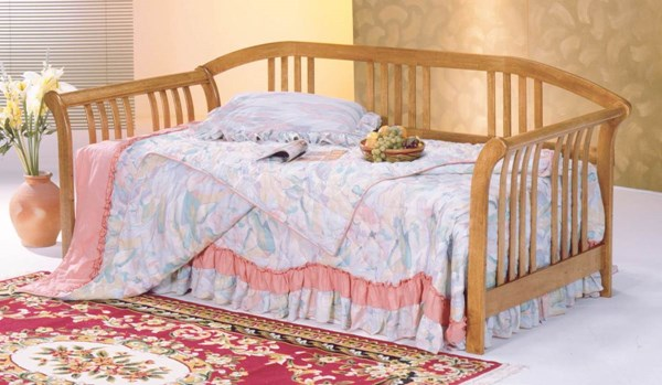 Magna Traditional Oak Wood Trundle Daybed HE-4953A