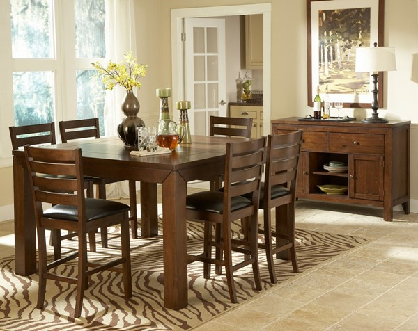 Eagleville Warm Brown Cherry Wood Counter Height Table HE-5346-36