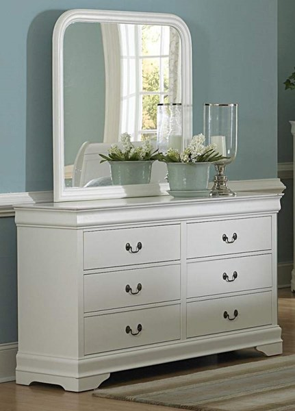 Marianne Casual White Wood Metal Dresser HE-539W-5