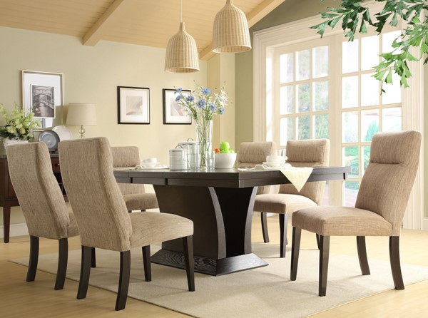 Avery Contemporary Rich Espresso Wood Dining Table HE-5448-78
