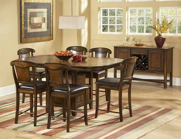 Westwood Burnish Oak Wood Vinyl 5pc Bar Set HE-626-36-set1