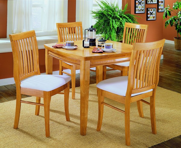 Liz Natural Wood Square Solid Top Dining Table HE-763