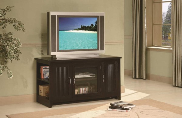 Home Elegance Pepperville Espresso TV Stand HE-8046-T