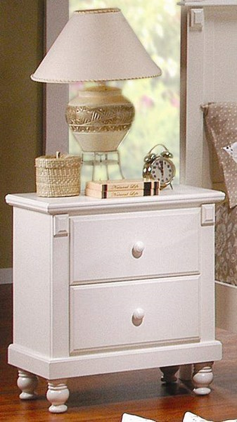 Pottery Old World White Wood Night Stand HE-875W-4