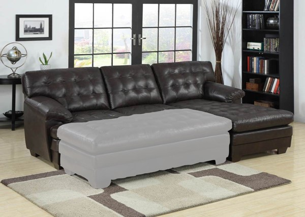Home Elegance Brooks Sectional with Right Side Chaise HE-9739