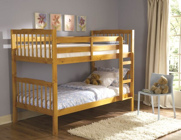 The Todd Pine Wood Built In Ladder Bunk Bed HE-B27-1