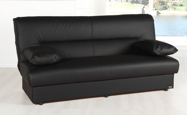 Hudson Global Regata Escudo Black Leatherette Sofa HGM-10-REG-7558D-03-0