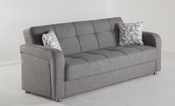 Hudson Global Vision Diego Gray Fabric Sofa HGM-10-VIS-6227D-03-0