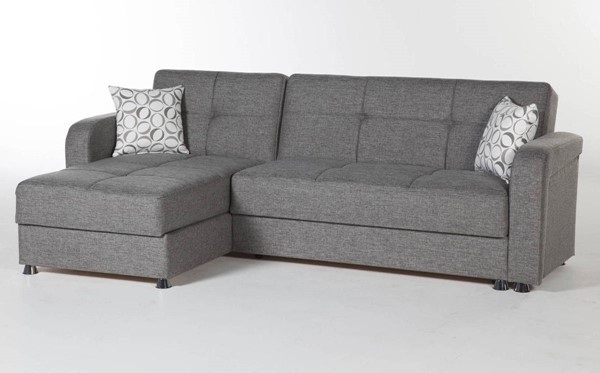 Hudson Global Vision Diego Gray Fabric Sectional HGM-10-VIS-6227D-05-L-C
