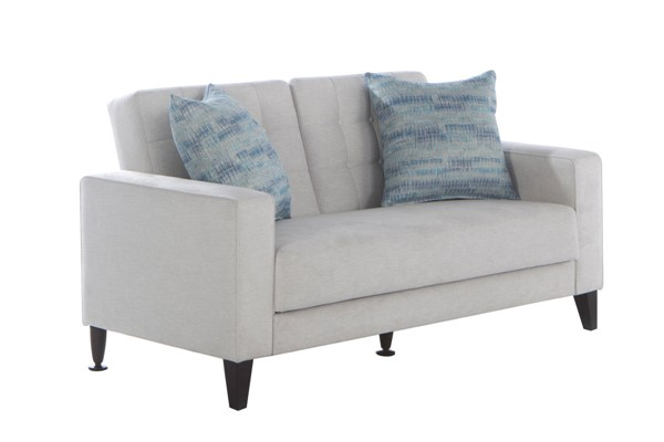 Hudson Global Milton Perla Cream Fabric Loveseat HGM-15-MIL-201670-02-0