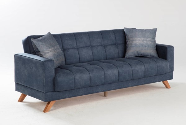 Hudson Global Montana Yakut Navy Fabric Sofa HGM-15-MON-201592-03-0