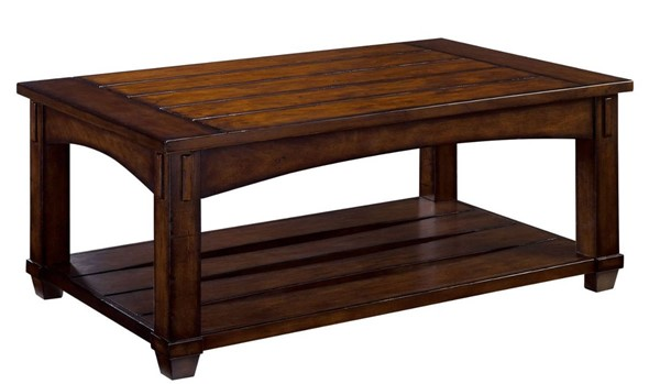 Hammary Tacoma Rustic Brown Rectangular Lift Top Cocktail Table HAM-049-910