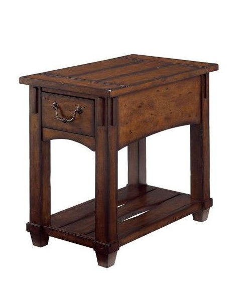 Hammary Tacoma Rustic Brown Chairside Table HAM-049-916