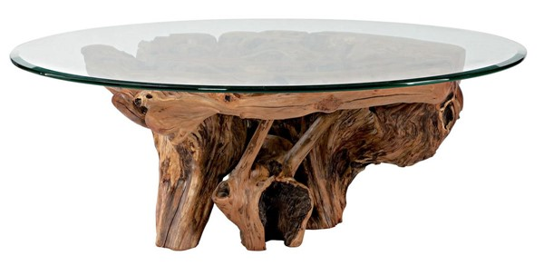 Hammary Hidden Treasures Natural Root Ball Cocktail Table HAM-090-555R