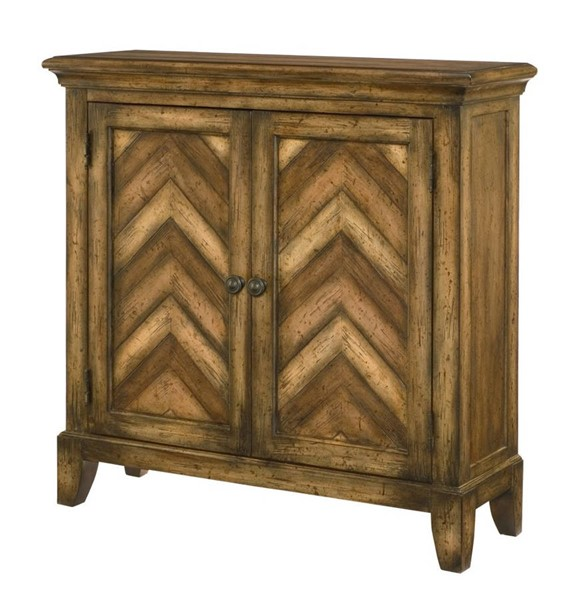 Hammary Hidden Treasures Maple Walnut Cherry Chevron Cabinet HAM-090-665
