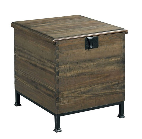Hammary Hidden Treasures Brown Milling Chest End Table HAM-090-884