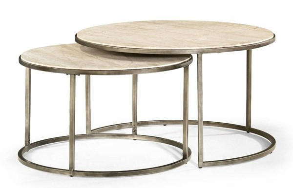 Hammary Modern Basics Natural Bronze Round Cocktail Table HAM-190-911
