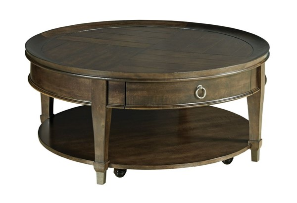 Hammary Sunset Valley Rich Mocha Round Cocktail Table HAM-197-911D