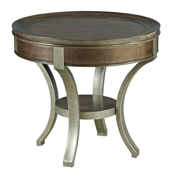 Hammary Sunset Valley Rich Mocha Round End Table HAM-197-917D