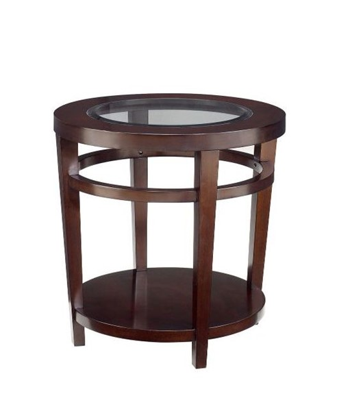 Hammary Urbana Dark Merlot Round End Table HAM-T20810-T2081535-00