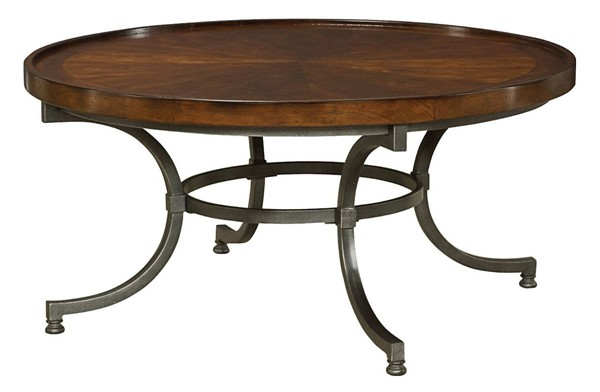 Hammary Barrow Rich Amber Round Cocktail Table HAM-358-911