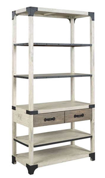Hammary Reclamation Place Willow Sundried Natural Bookcase HAM-523-588