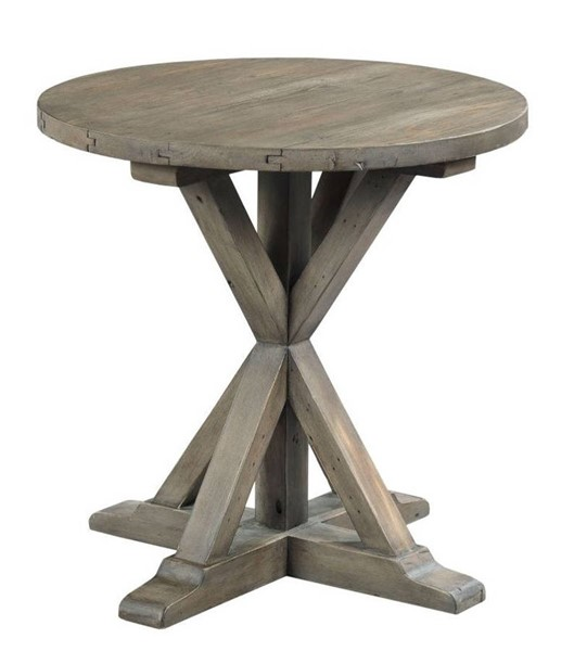 Hammary Reclamation Place Sundried Natural Trestle Round End Tables HAM-523-918-ET-VAR