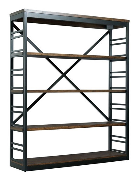Hammary Franklin Warm Cherry Dark Bronze Stacking Bookcase HAM-529-588