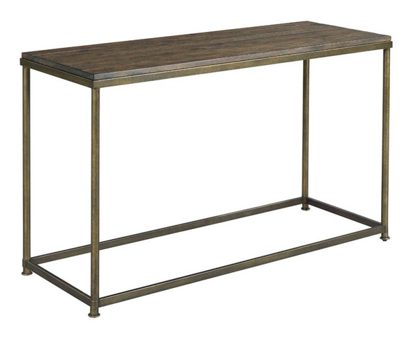 Hammary Leone Weathered Barn Antique Brass Sofa Table HAM-563-925