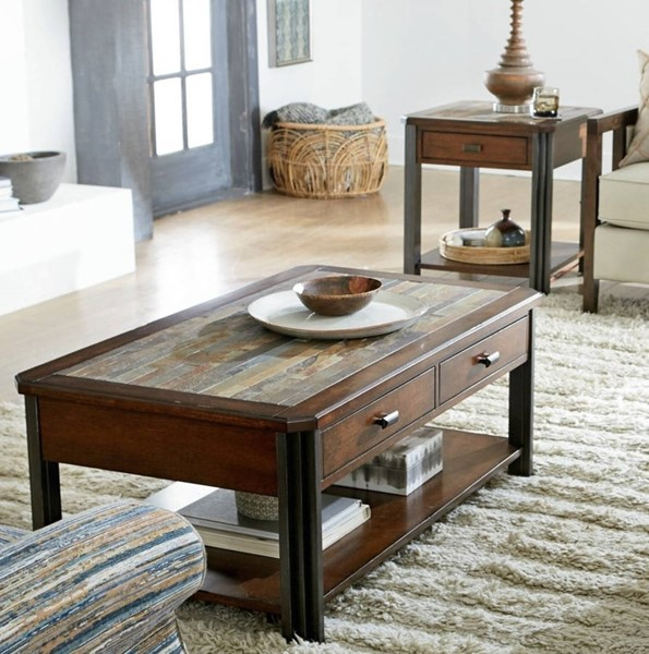Hammary Slaton Hamilton Warm Mocha 3pc Coffee Table Set HAM-675-91-OCT-S1