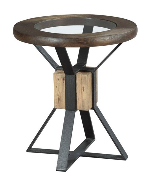 Hammary Junction Timber Chic Coffee Compass End Table HAM-710-919