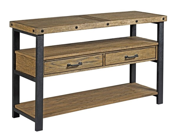Hammary Workbench Hamilton Rustic Brown Sofa Table HAM-790-925