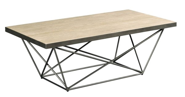 Hammary Rafters Ash Pewter Rectangular Cocktail Table HAM-796-910