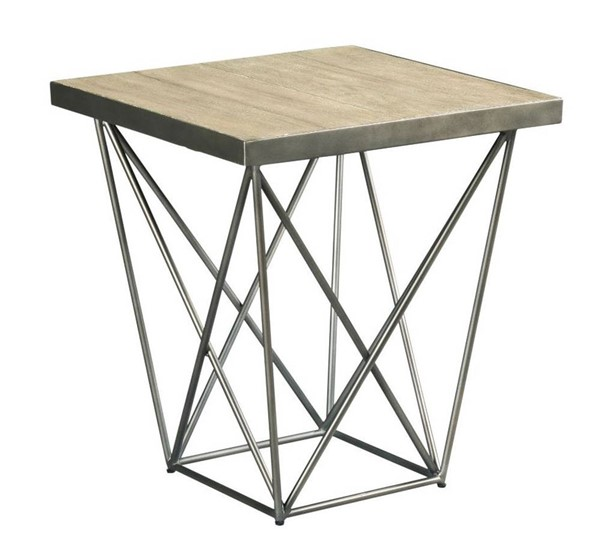 Hammary Rafters Ash Pewter Rectangular End Table HAM-796-915