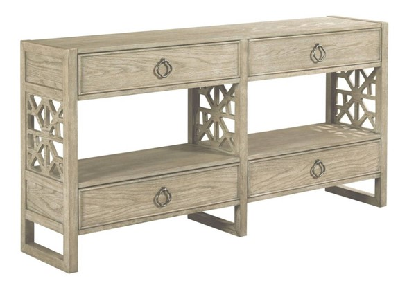 Hammary Vista Rustic Brown Biscayne Hall Console Table HAM-803-925