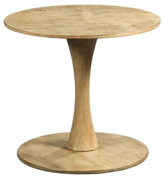 Hammary Oblique Wirebrushed Natural Round End Table HAM-834-918