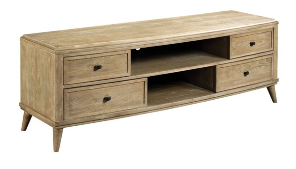 Hammary Oblique Wirebrushed Natural Entertainment Console HAM-834-926