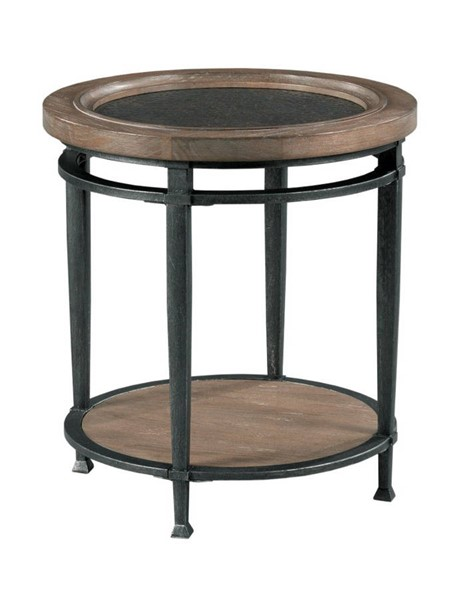 Hammary Austin Medium Brown Round End Table HAM-955-918