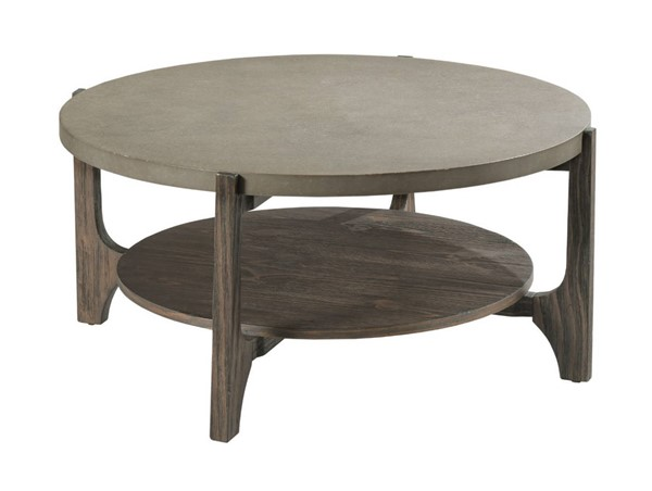 Hammary Delray Mocha Gray Round Coffee Table HAM-962-911