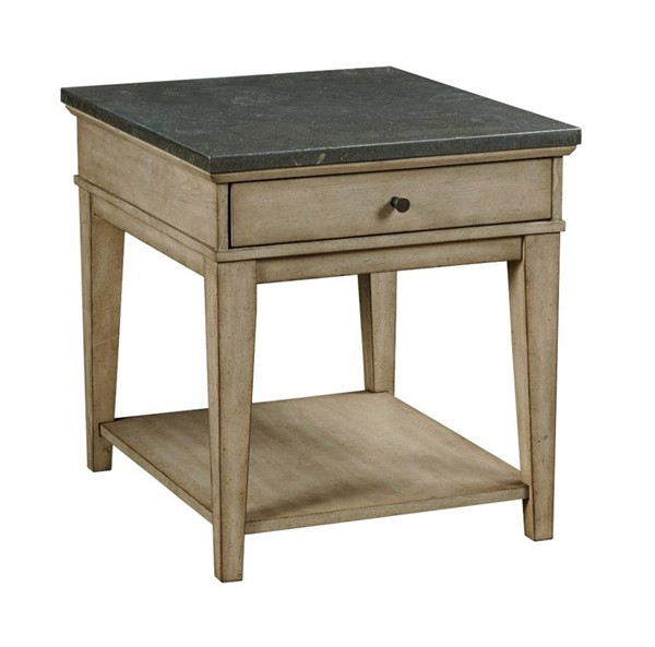 Hammary Riverstone Hamilton Weathered Distressed Beige Rectangular End Table HAM-966-915