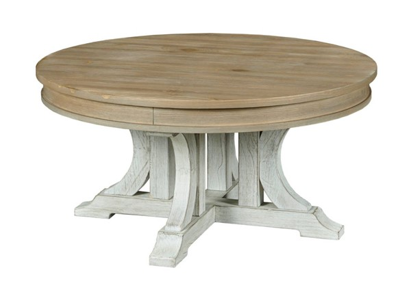 Hammary Cimarron Valley Hamilton Natural Dusty White Round Cocktail Table HAM-967-911
