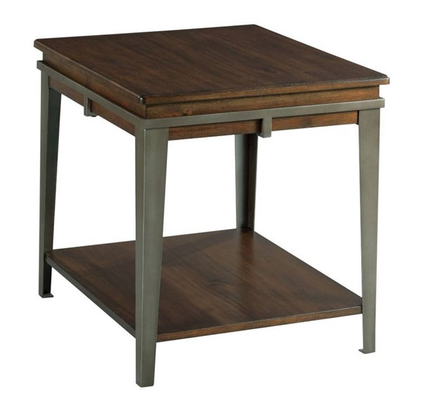 Hammary Composite Espresso Pewter Rectangular End Table HAM-979-915