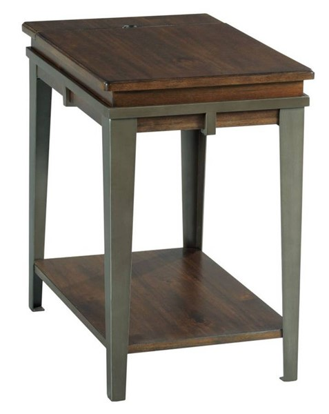 Hammary Composite Espresso Pewter Charging Chairside Table HAM-979-916