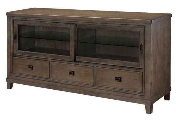 Hammary Park Studio Weathered Taupe Gray Entertainment Center 66 Inch Console HAM-488-585