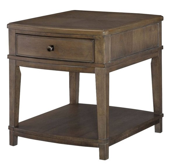 Hammary Park Studio Weathered Taupe Gray Rectangular End Table HAM-488-915